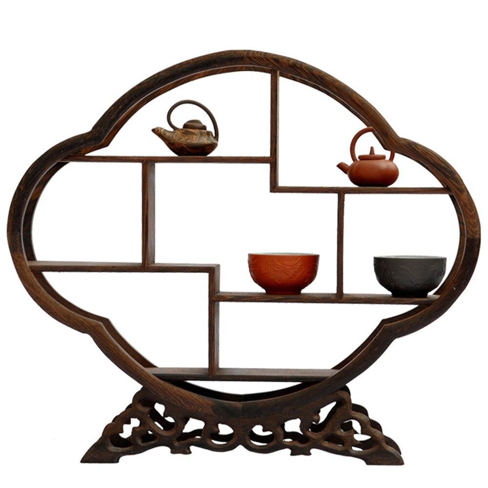 Séquoia artisanat étagère décoration bégonia en forme de pierre antique ailes en bois plus cadre de trésor cadre décoratif magasins d'usine