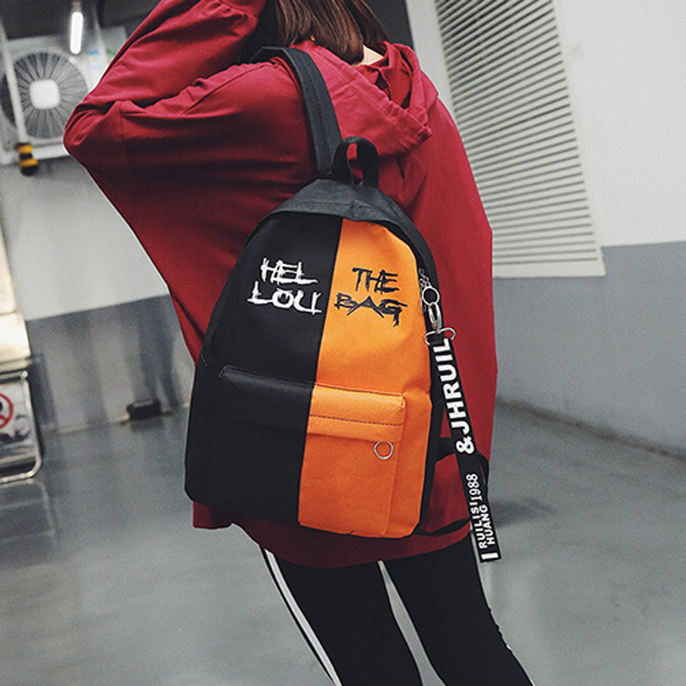 OCARDIAN Backpack Schoolbag Nylon Female Korean-Version Color Women Fashion High-Quality