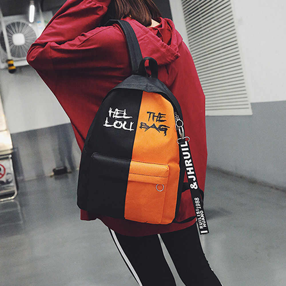 OCARDIAN Backpack Female Korean Version High Quality Fashion Women Lady Or Men Nylon Hit Color Schoolbag Gripesack Dropship M30