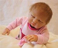 50cm Silicone Reborn Baby Doll Toys Lifelike Soft Cloth Newborn babies Doll Reborn kids Gift bebe Brinquedos reborn bonecas