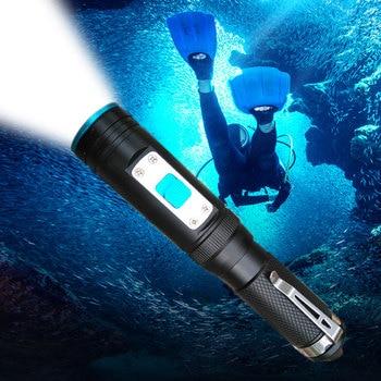 XM-L2 18650 Diving flashlight LED Underwater Flashlights Waterproof Portable Lantern Lights dive light Lamp Torch цена 2017