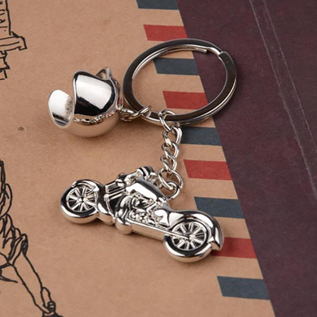 האופנה Keyring מתנות בוטיק עבור הארלי חדשניים אופנוע קסדת מפתח שרשרת לייזר לוגו G-209 תכשיטי מפתח שרשרת