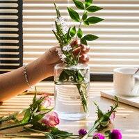 Nordic Style Glass Mini Vase Wedding Decoration Flower Vase Container Vaso Home Decor Tabletop Glass Vase Garden Decor Planter