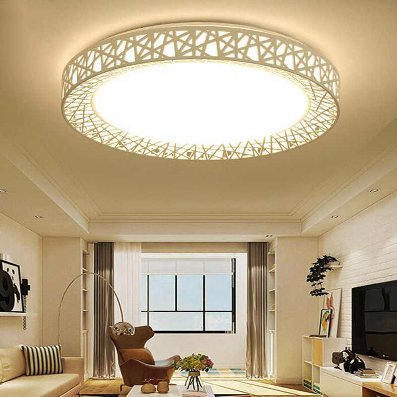 LED Ceiling Light Bird Nest Round Lamp Modern Fixtures For Living Room Bedroom Kitchen LO88