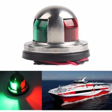 Stainless Steel 12V LED Marine boat Yacht Light Bow Navigation Light Deck Mount #279393