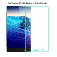 2PCS 5.5 inch Umidigi Crystal Tempered Glass 100% High Quality Premium 9H 2.5D Screen Protector Film For Umi Phone