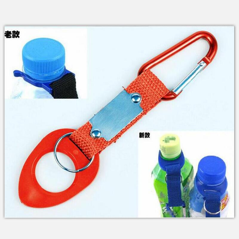 Outdoor camping equipment Rubber mineral water bottles hanging buckle kettle carabiner keychain gadget