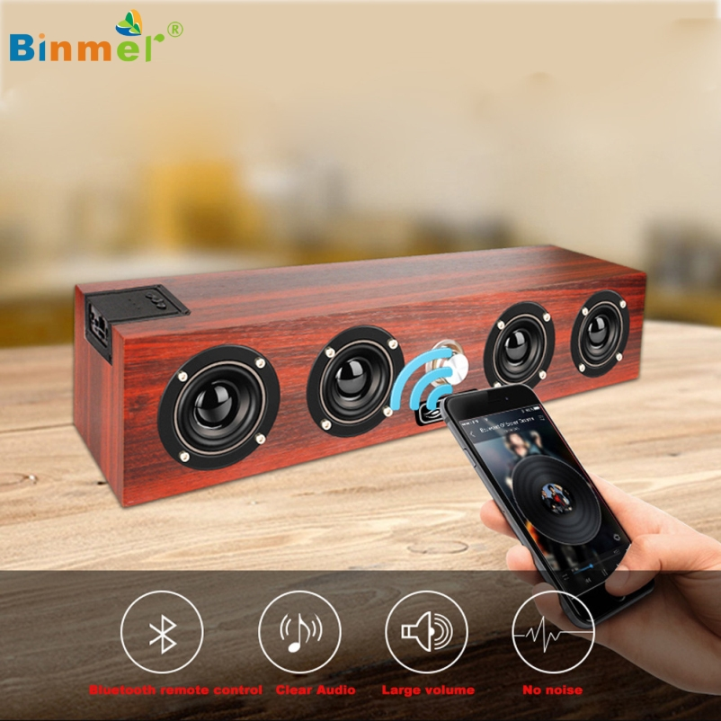 Binmer Hot Selling Mini Portable Surround Stereo Sound Wireless Bluetooth Speaker for SmartPhone Tablet PC Gift 1pcs Dec 1  360 degree dc 5v usb surround stereo bluetooth speaker portable rechargeable wireless led lights sound speaker for smartphone