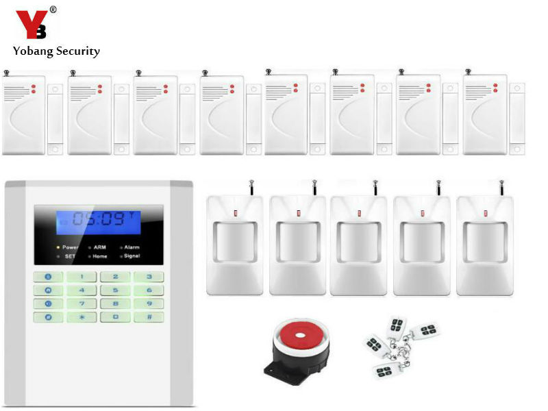 Yobang Security LCD Home Security GSM/PSTN alarm 99 Wireless zones GSM Security Alarm for hotel/apartment etc. датчики сигнализации tino lcd gsm pstn yn gsm40b