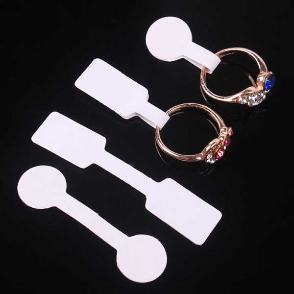 100PCs/Bag Jewelry Price Tag quadrate paper for necklace ring jewelry price labels tags display Paper Price Tags 60x12mm 50x13mm