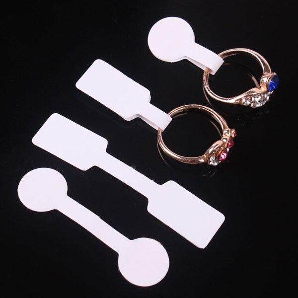 """100 יח'\שקית תכשיטי מחיר תג מרובע נייר עבור שרשרת טבעת תכשיטי מחיר תוויות תגיות תצוגת נייר מחיר תגיות 60x12 מ""""מ 50x13 מ""""מ"""