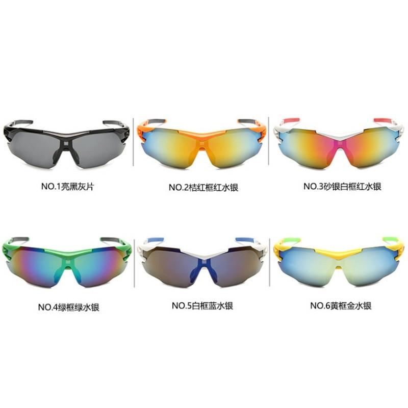 0761 cheap Sport Cycling Glasses sports Men Women Running Fishing Sun Glasses UV Protect Road Bicycle MTB Sunglasses 6colors