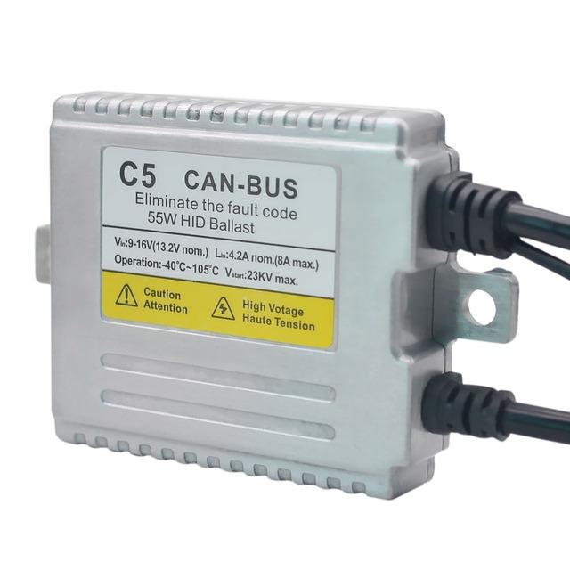 2Pcs AC 55W Xenon Ballast Canbus Error Free HID ballast For Car Headlight bulb H7 H4 H11 H1 H3 9005 9006 881