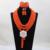 Opaco maravilhosa orange beads nupcial indiano traje africano jóias set casamento nigeriano colar para as mulheres frete grátis wd674