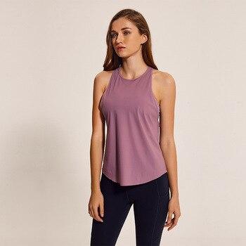 Yoga Shirts Sports Athletic Loose Quick Dry Vest Sleeveless Shirt Women Running Gym Tops Woman Tight Stretchy Fitness Yoga Shirt