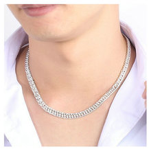 10MM Cool Mens Fashion Necklace wholesale 925 sterling silver necklace Male jewelry Horsewhip Chain Choker 20 22 24