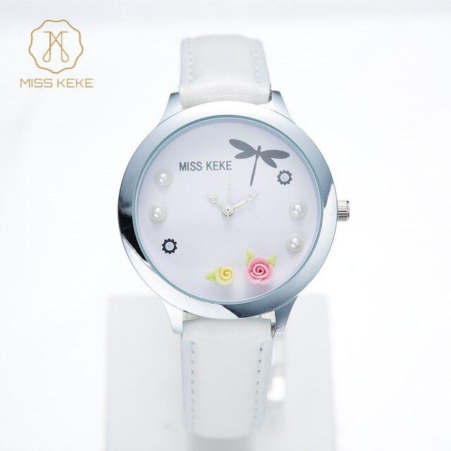 c88e74213c1 Relojes mujer Genebra crianças 3D argila Floral bonito mini mundo relógios  Relogio feminino Mulheres Senhoras de quartzo de couro Relógios De Pulso 887