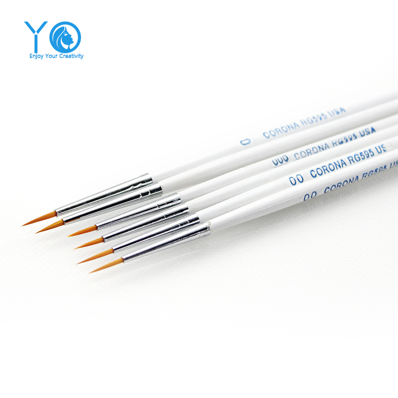 YO 3pcs / lot # 0 # 00 # 000 Line Draw Pen Vatten Nylon Fiber Color Pen Pastry Brushes Bakning & Pastry Verktyg