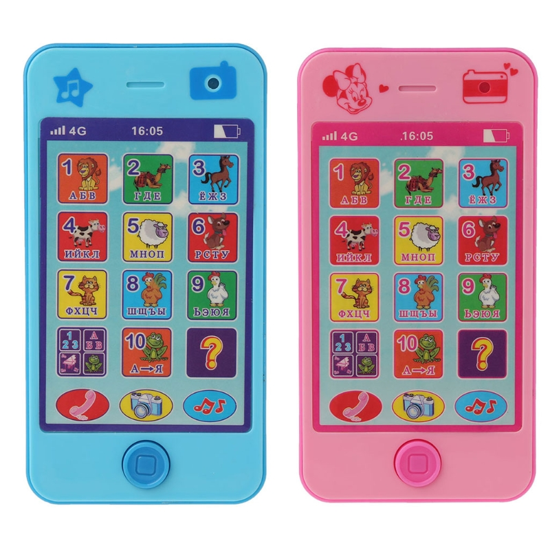 Kids Baby Russian Language ABC Music Math Early Education Machines Mobile Toy Phone Toy-m15