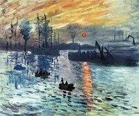 日の出1872クロード·モネ油彩リビングルーム手塗りキャンバスアートワーク風景絵画印象派