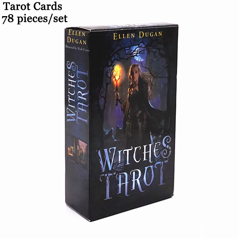 78PCS Set Tarot Deck Game Cards Witch Wizard Divination Playing Cards In English Foil Print Magic Costume Props Halloween Wicca