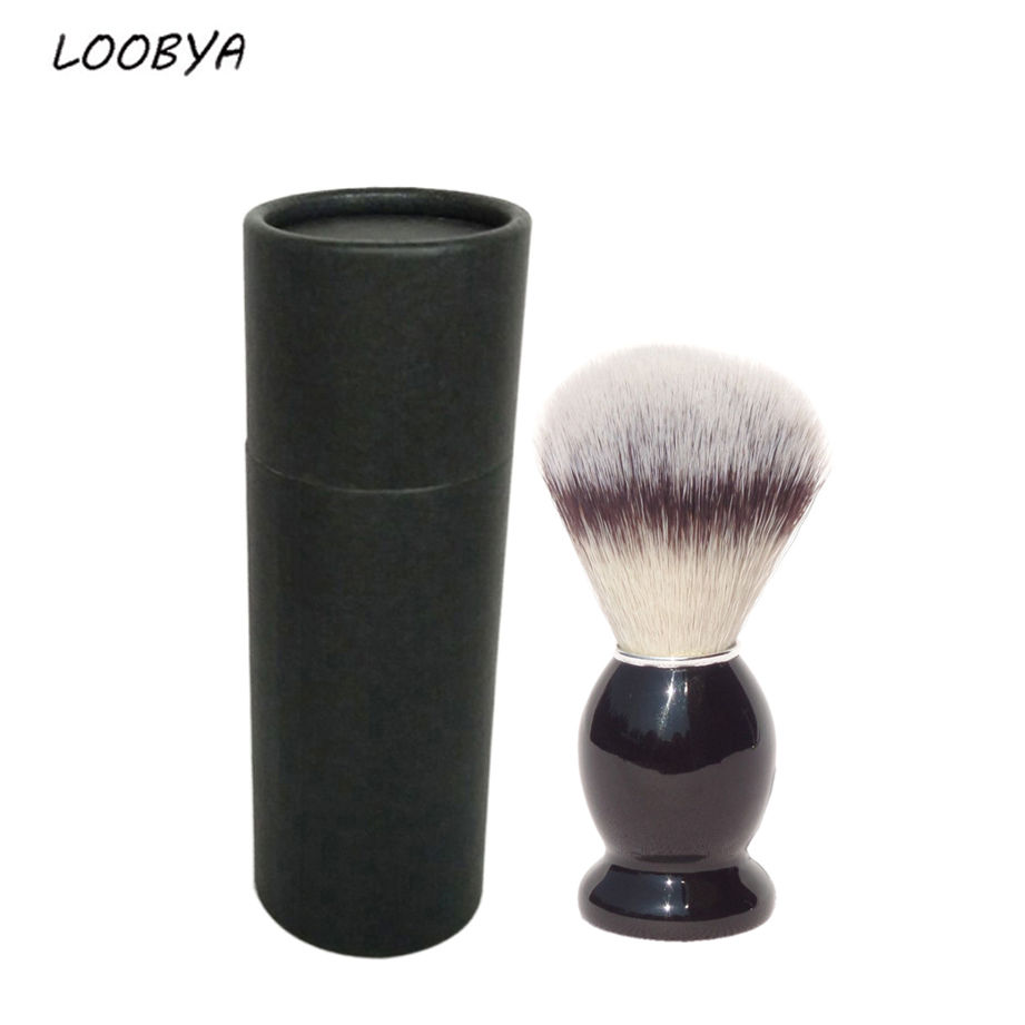 Pure Shaving Brush Shave Beard Tools with Black Wood Handle for Men Facial Care with Gift Case
