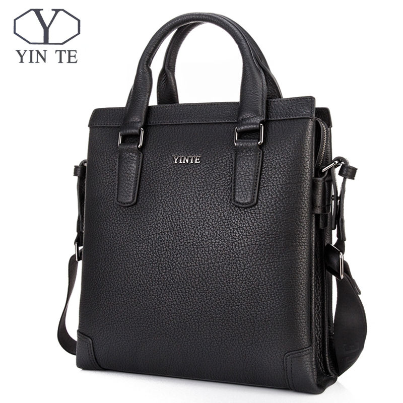 YINTE Men Messenger Bags Male Genuine Leather Men Bag Briefcase Shoulder Leather Laptop Bag Crossbody Bags Handbags Tote 8369-3A top power men bag fashion genuine leather men crossbody shoulder handbags men s briefcase men bags double bag messenger bag male
