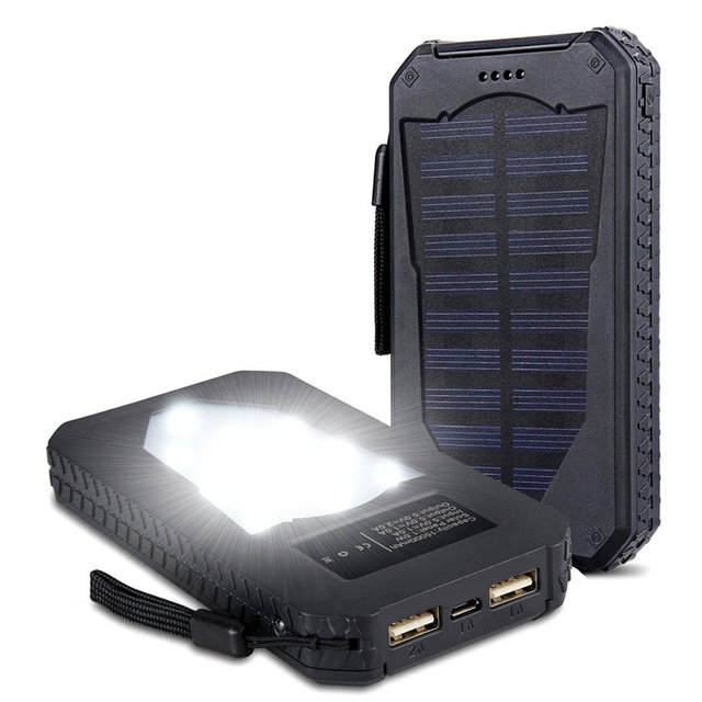 Waterproof Solar Power Bank 20000 mAh
