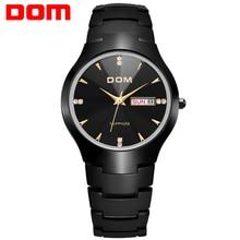 DOM Luxury Top Brand Men's Watch tungsten steel Wrist 30m waterproof Business Quartz watches Fashion Casual sport