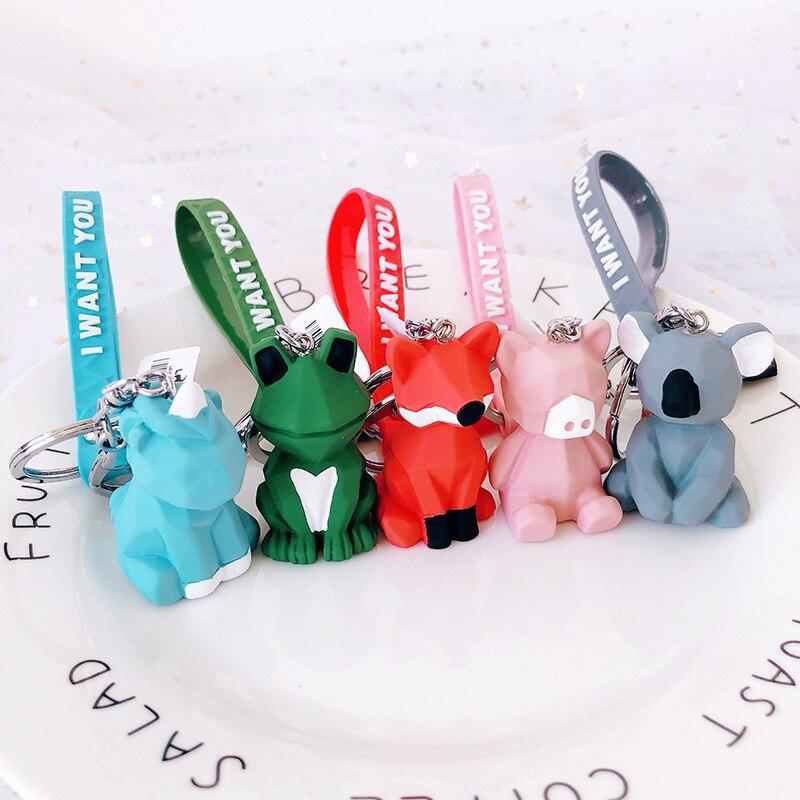 2019 Frog Koala Fox Keychain Women Trinkets Suspension Bags Car Key Chain Key Ring Toy Gifts Llaveros Jewelry Pendants