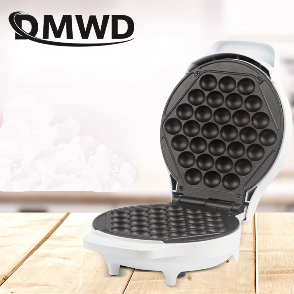 DMWD Electric Chinese Hong Kong eggettes puff waffle iron maker DIY Bubble egg Cake Oven Muffin Mould Pan Breakfast Bakeware EU