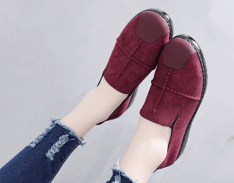 Plus Size Summer Women Flats Fashion Splice Flock Loafers Women Round Toe Slip On Leather Casual Shoes Moccasins New 2019 VT209 (3)