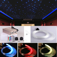 High power 32w fiber optical star ceiling light for home theater cinema decoration 2 x 500 points x 4 meter