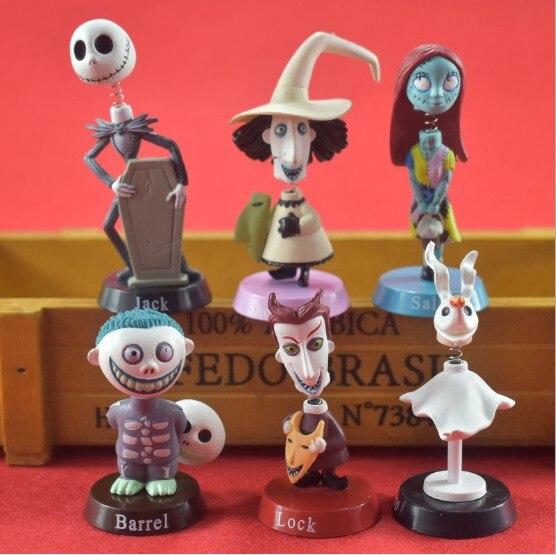 Cadeau enfant 6 pièces/ensemble Jack Skellington série articles d'ameublement décoratifs jouets pour enfants modèles