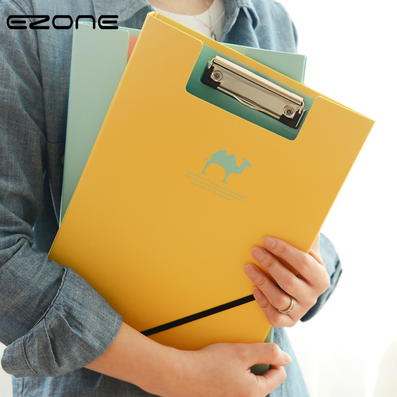 EZONE Candy Color A4 File Folder Horizontal/vertical Writing Board Clip File Kids Gift School Office Paper File Business Supply трусы x file