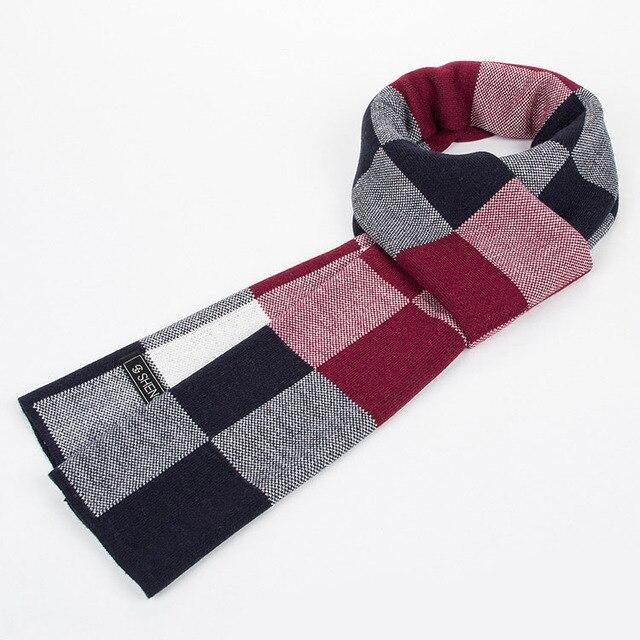 Мода Люксовый бренд шарф Мужчины зима настоящее кашемир & Искусственный шерстяной шарф Мужские Большой Размер плед Шарфы bufandas