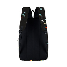 Men's Stylish Colorful Oxford Backpack with Rock Music Themed Pattern