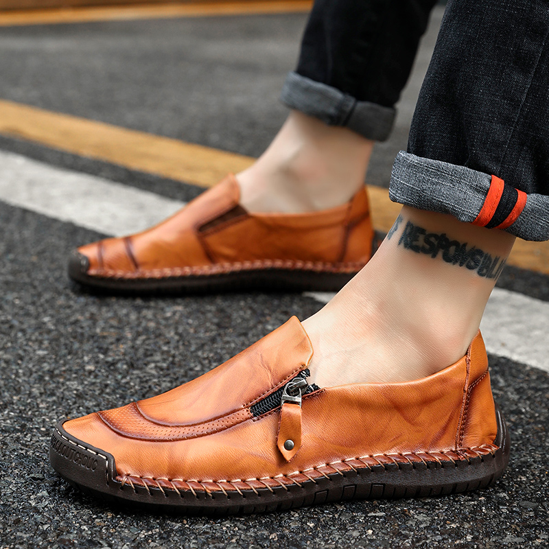 Moccasins Men Shoes Male Loafers Flats Genuine Leather Comfortable Casual Boat Walking Driver Footwear Gommino Driving Shoes merkmak spring autumn men shoes casual male genuine leather brand walking driving high quality comfortable footwear man flats
