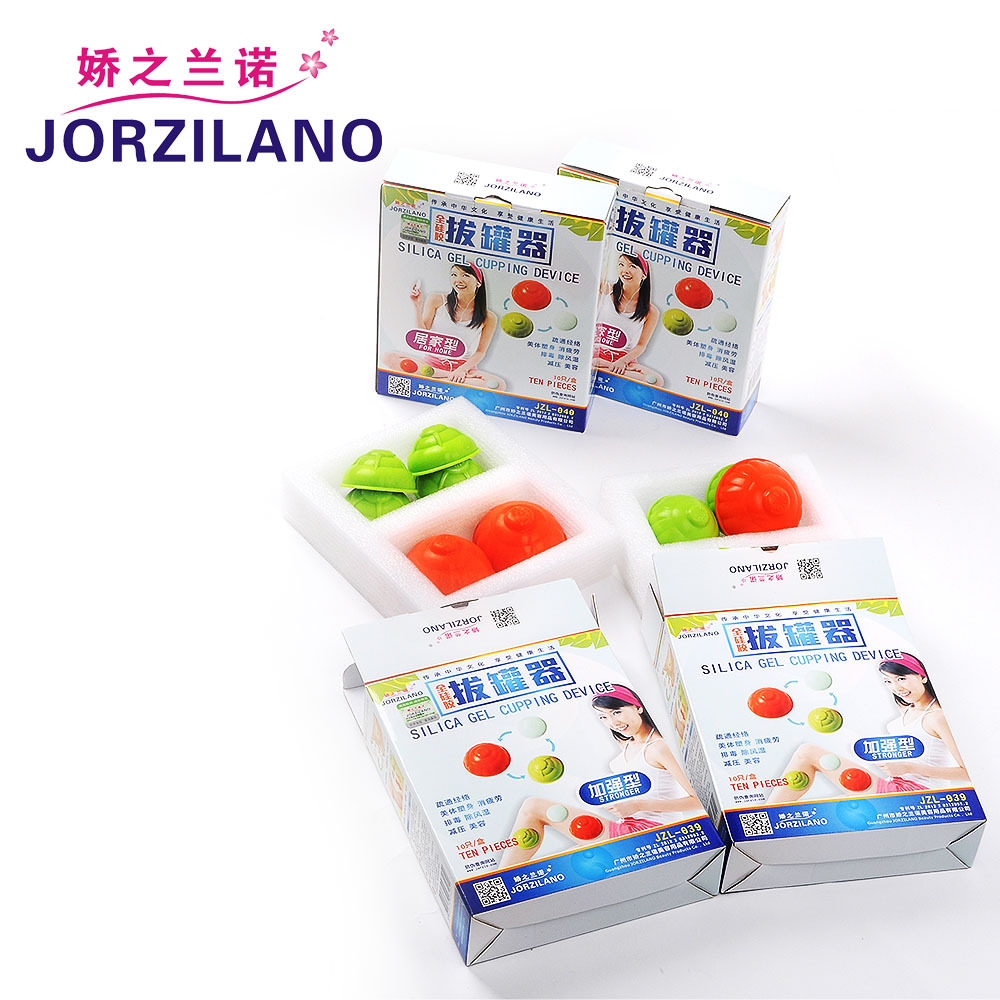 JORZILANO 10 Cups Premium Silicone Cupping Jar Suction Cupping Device Vacuum Massage Moisture Absorption Cupping Household Set