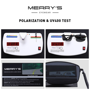 Image 5 - Merrys DESIGN Classic Square แว่นตากันแดด Polarized สำหรับขับรถกีฬากลางแจ้ง Ultra   light UV400 ป้องกัน S8131