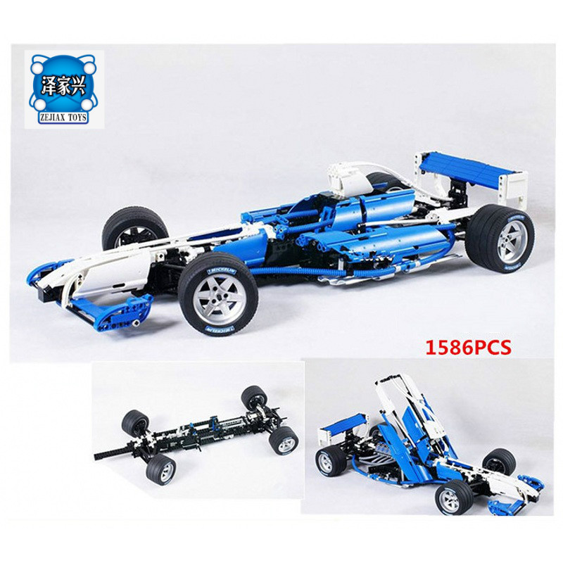 Williams F1 Team Racer Building Bricks Blocks Figures Toys for Children Game Model Car Gift Compatible with Lepins DIY Gift 10646 160pcs city figures fishing boat model building kits blocks diy bricks toys for children gift compatible 60147