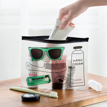 Fashion Cartoon Glasses PVC Waterproof Pencil Bag Stationery Storage Organizer Bag School Supply Student Prize Material Escolar