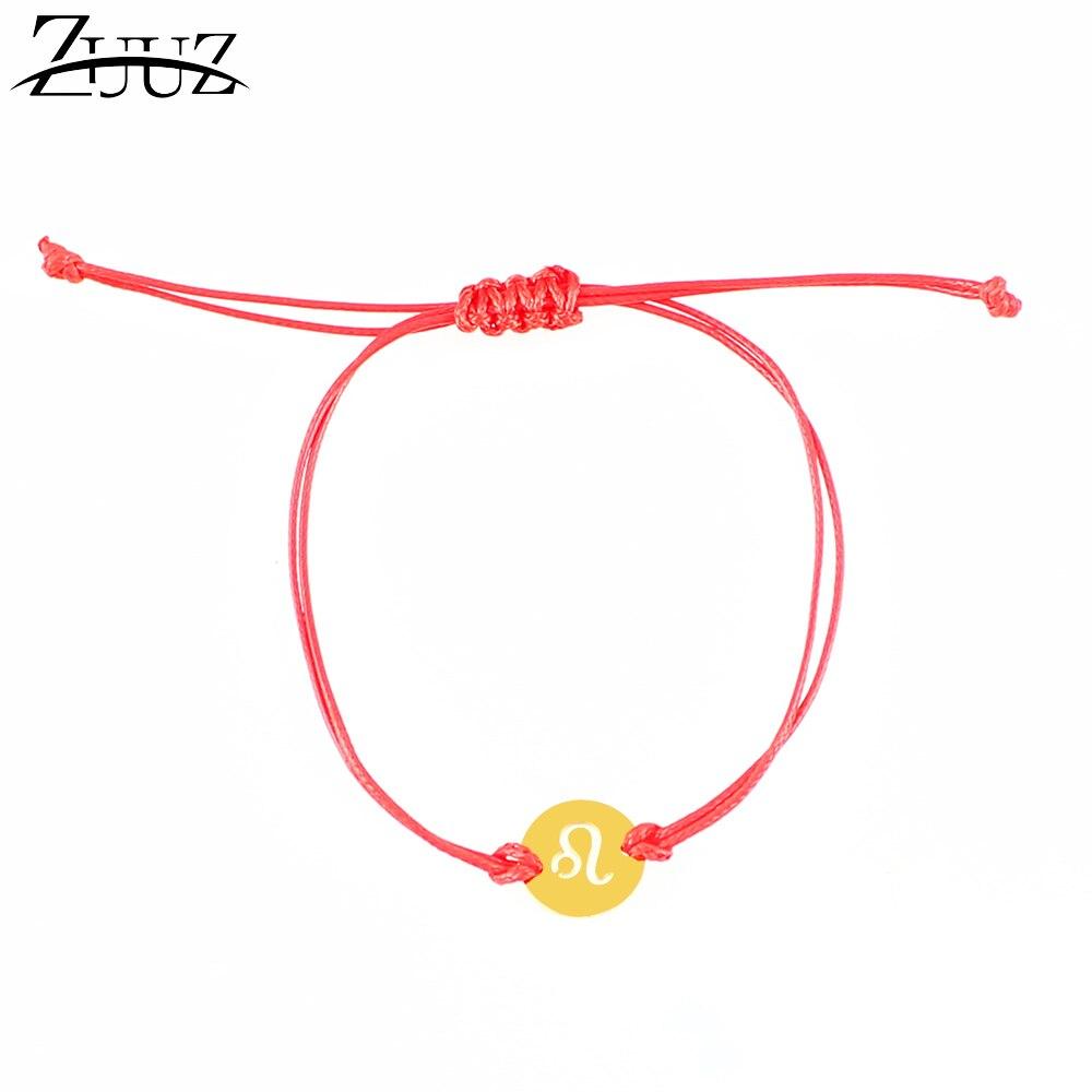 Zuuz Rode Draad Armband Vriendschap Armbanden Armbanden Zilver Goud Voor Vrouwen Vrouwelijke Mannen Mannelijke Rvs Accessoires Sieraden