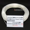 100m Acrolink Silver Plated 6N OCC Signal Teflon Wire Cable 0.35mm2 Dia:1.2mm For DIY