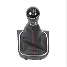 MT Gear Shift Knob for Volkswagen VW Golf 5 6 Golf5 Golf6 Gearshift Shifter Lever Stick Leather Gaitor Boot Base Frame Arm Pen