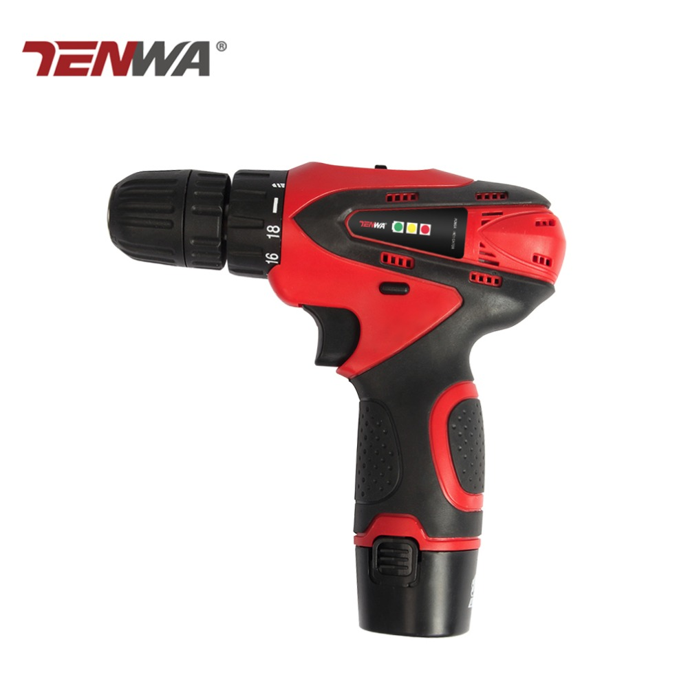 Tenwa 12V Electric Drill Screwdriver Rechargeable Household Lithium-Ion Battery Cordless Drill Power Tools Electric Drill 18v dc lithium ion battery cordless drill driver power tools screwdriver electric drill with battery included