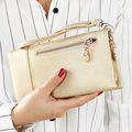Brand women wallets  zipper long design wallets small wallet card package fashion simple coin purse
