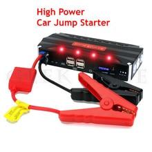 2017 High Capacity 12000mAh Car Jump Starter 12V Mini Poratble 4USB Mobile Power Bank SOS Lights 600A Peak Car Starter Free Ship