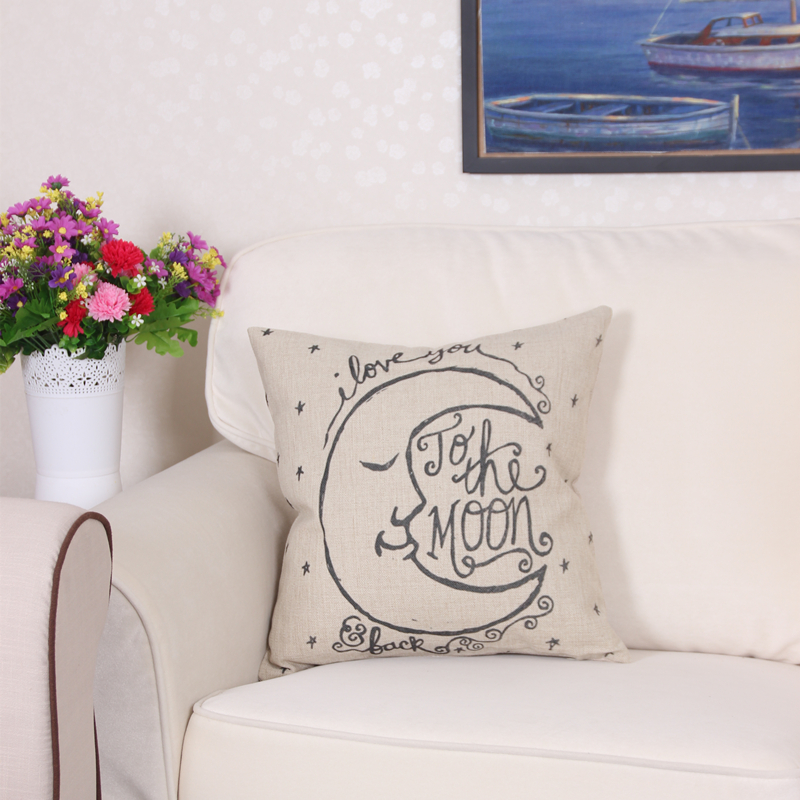 Cute Cushion Cover 45x45cm Apply To Decorative Throw Pillows Decorative Cushion Covers 3D Moon Pillow Cover Housse Coussin