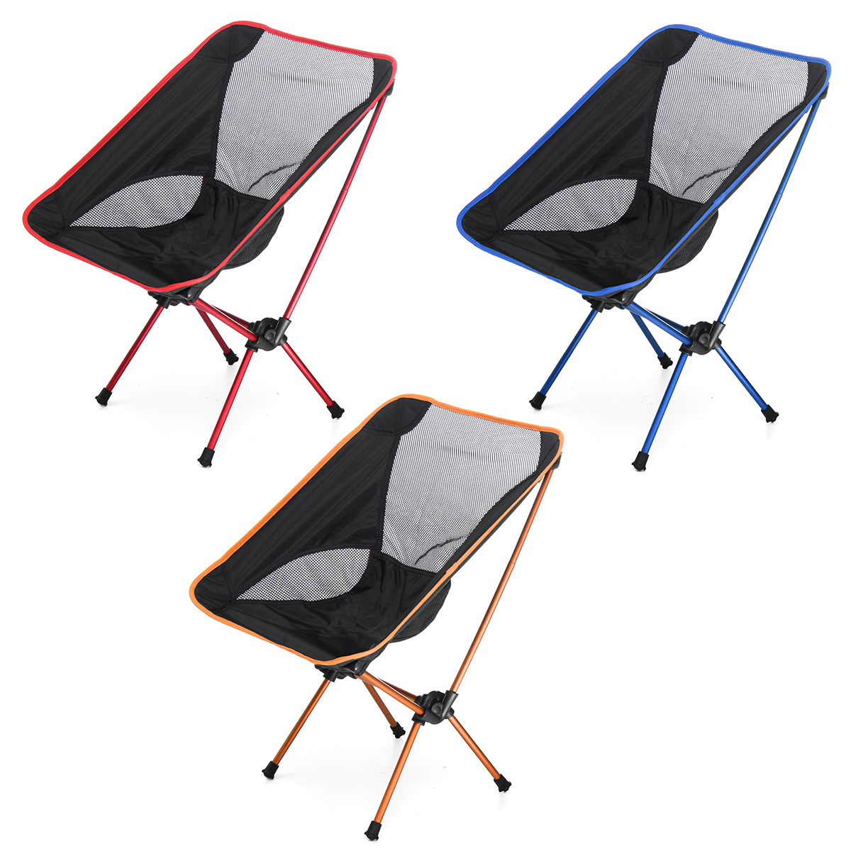 Portable Folding Camping Stool Foldable Fishing Chair Seat with Backpack For Fishing Picnic BBQ Cycling Hiking folding outdoor camping hiking fishing picnic garden bbq stool tripod chair seat cloth chair